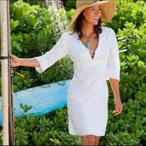 Athleta Lanai White Linen Dress